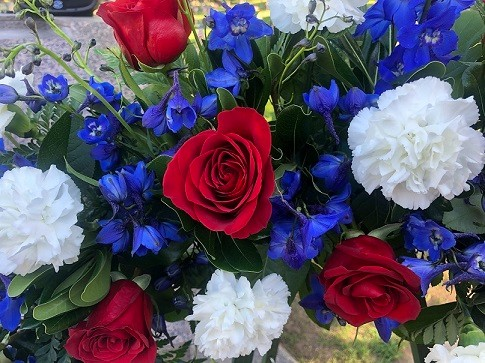 Red, White, & Blue Flowers